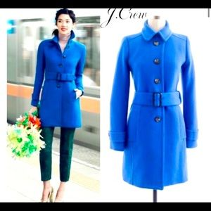 J. Crew Double-Cloth Slim Trench Wool Belted Coat